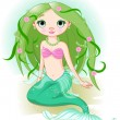 Stock Vector: Mermaid Girl
