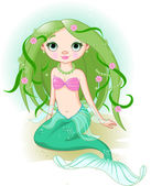 Mermaid Girl — Stock Vector
