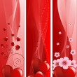 Valentine&#039;s Day banners - Stock Vector