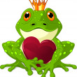 Frog with heart - Stock Vector