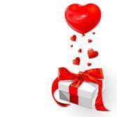 Gift van de valentijnskaart — Stockvector