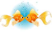 Dois peixes no amor — Vetor de Stock
