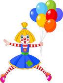 Funny Clown Girl — Stock Vector