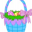 Stock Vector: Easter Basket