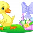 Easter duckling - Stock Vector