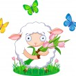 Spring sheep — Stock Vector