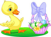Easter duckling — Stock Vector