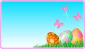 Easter eggs ecard — Stock Vector