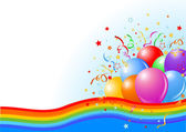 Party balloons background — Vector de stock