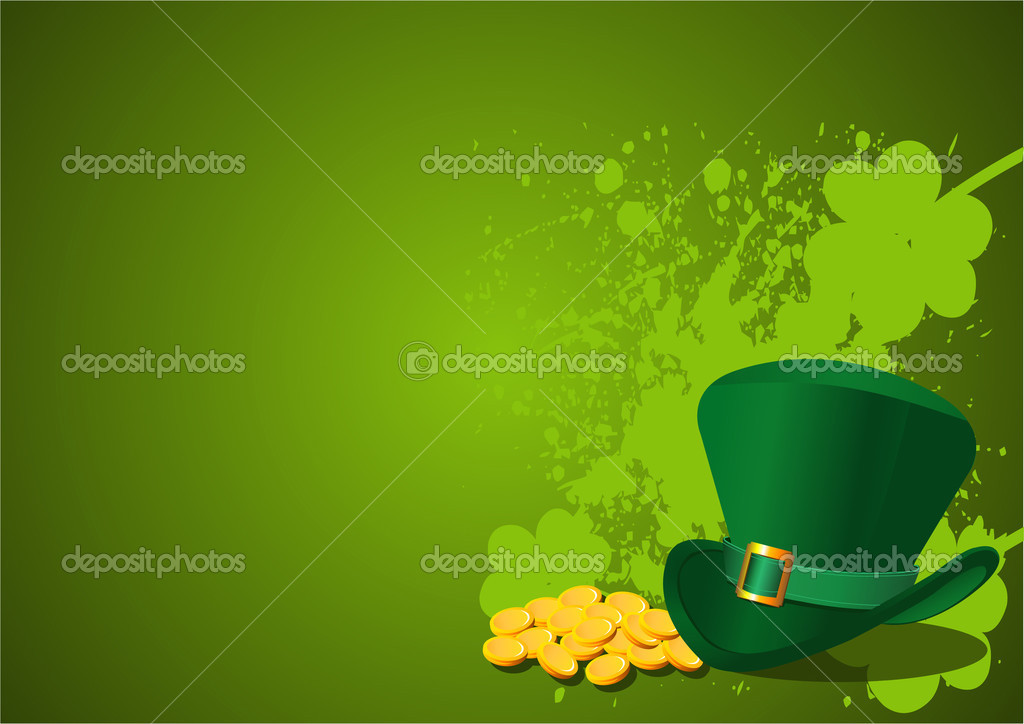 St. Patrick's Day Background with Leprechaun Hat — Stock Vector #2147799