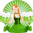 Saint Patrick's Day Girl - Stock Vector