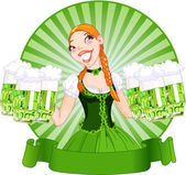 Saint Patrick's Day Girl — Stock Vector