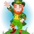 Lucky Dancing Leprechaun — Stock Vector