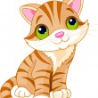 Very Cute kitten - Stock Vector