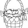 Royalty-Free Stock Vector Image: Easter Basket coloring page