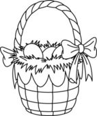 Easter Basket coloring page — Stock Vector
