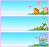 Easter eggs banners — Stock Vector