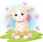 Easter lamb — Stock Vector