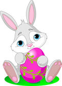Easter Bunny with Easter Egg — Stock Vector