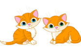 Two very cute cats — Stock Vector