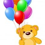 Bear with balloons — Stock Vector