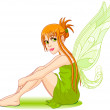 Young fairy — Stock Vector