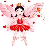 Little red fairy — Stock Vector