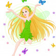 Spring fairy — Stock Vector