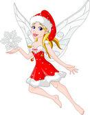 Christmas fairy — Stock Vector