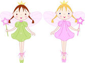 Little fairies — Stock Vector