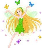 Spring fairy — Stock Vector