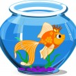 Stock Vector: Gold fish