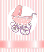 Baby Girl Carriage — Stock Vector