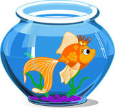 Gold fish — Stockvector