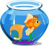 Gouden vis — Stockvector