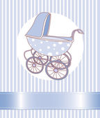 Baby Boy Carriage — Stock Vector