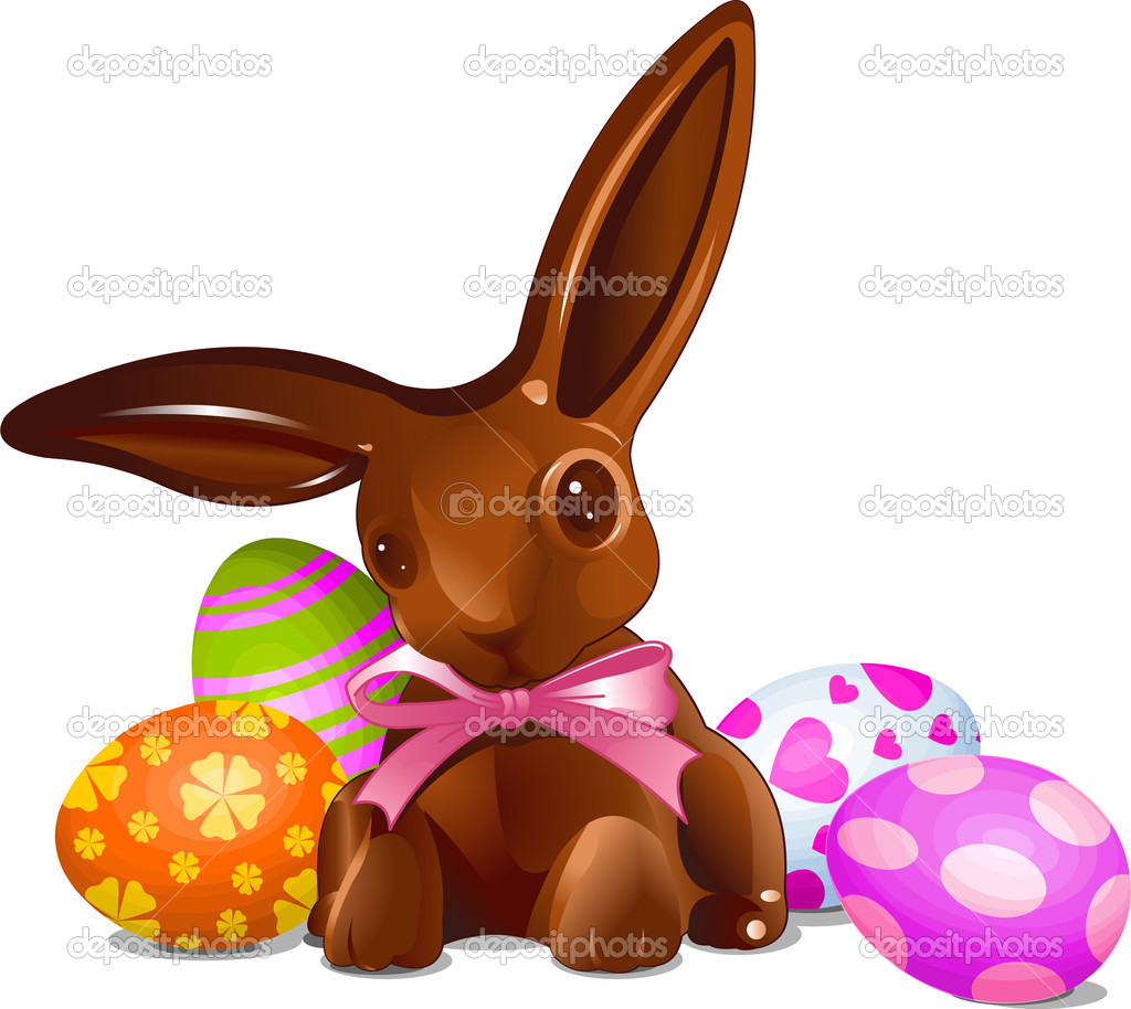 Easter chocolate bunny clipart