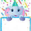 Royalty-Free Stock 矢量图片: Baby Elephant Birthday