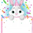 Baby Bunny Birthday - Stock Vector