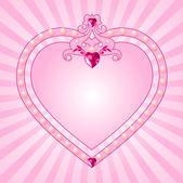 Prinzessin rosa rahmen — Stockvektor