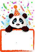 Baby Panda Birthday — Stock Vector