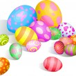 Beautiful Easter eggs — Stock Vector