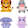 Royalty-Free Stock Векторное изображение: Cute animals set 04