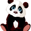 Sitting Panda — Stock Vector