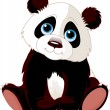 Stock Vector: Sitting Panda