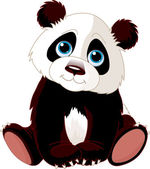 Sitting Panda — Stock Vector