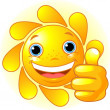 Royalty-Free Stock Vector Image: Sun Hand giving thumbs up