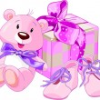 Stock vektor: Baby girl gifts