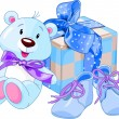 Baby boy gifts — Stockvectorbeeld