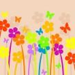 Spring meadow — Stock Vector